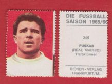 Real Madrid Ferenc Puskas Hungary Spain 345